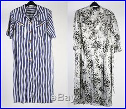 Vintage Summer Dresses 90s Retro Floral Plain Job Lot Wholesale x20 -Lot428