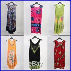 Vintage Summer Dresses Patterned & Floral, Printed Job Lot Wholesale x50 -lot342
