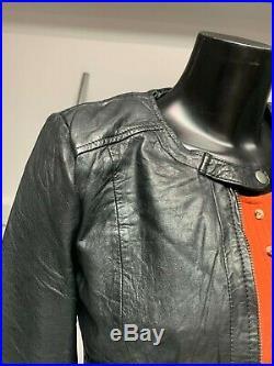 Vintage Wholesale Job Lot Ladies Black Real Leather Biker Jacket, 8 Pieces