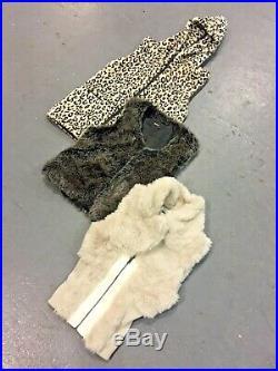 Vintage Wholesale Lot Faux Fur Gilet x 25
