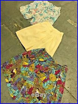 Vintage Wholesale Lot Ladies Floral Shorts Mix x 50