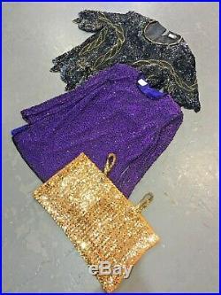 Vintage Wholesale Lot Ladies Lurex Dress Top Mix x 25