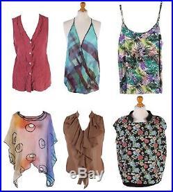 Vintage Women's 90s Plain Patterned Blouses Job Lot Wholesale x50- lot309