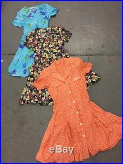 Vintage wholesale 90's Grunge floral button dresses x 100