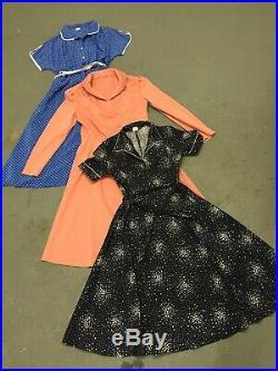 Vintage wholesale dresses 70's and 80s x 100