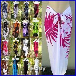 WHOLESALE LOT (20 assorted) Hawaii Sarong Pareo Beach Bikini Cover-Up Wrap