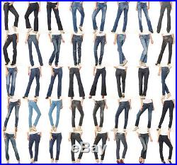 WHOLESALE LOT CLOTHING 200 WOMENS MIXED Jeans Denim Pants Shorts Skirts Apparel