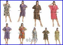Wholesale 20 PC Lot Cotton Kaftan Caftan Beach Poncho Sheer Top Maxi Bulk Gowns
