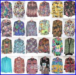 Wholesale 50 x Vintage Womens Crazy Jazzy Long Sleeve Shirts Joblot PHOTOS