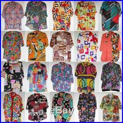 Wholesale 50 x Vintage Womens Crazy Jazzy Short Sleeve Shirts Joblot PHOTOS