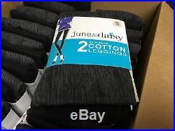 Wholesale Bulk Lot 48 June & Daisy Cotton Leggings Size Small Black/Cobblestone