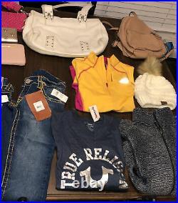 Wholesale Bulk Mixed Lot Womens Clothes Purses Shoes Michael Kors True Religion