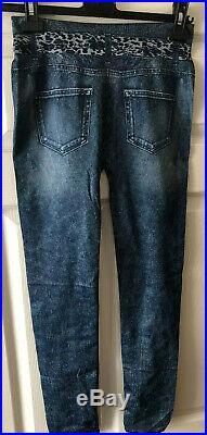 Wholesale Joblot 100 Pairs leggings sizes 4/6/8/10 Jean Print Stretch Waist