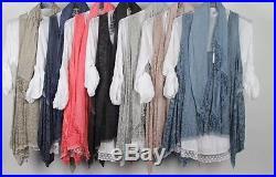 Wholesale Joblot Ladies Quirky Lagenlook Layering scarf shirt top 6pcs mix color