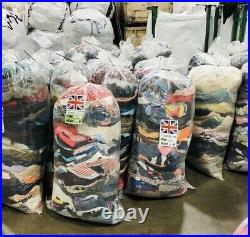 Wholesale Joblot Used Second Hand 25kg Sack of Clothes Shoes Cream, Grade 1&2&3
