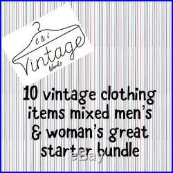 Wholesale Joblot Vintage Clothing Starter Reseller Bundles X10 Items Mens Womens