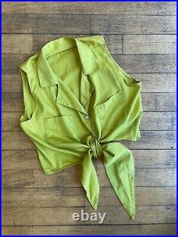 Wholesale Joblot Vintage Cropped Front Tie Blouse Shirt x100 £1.20 Each