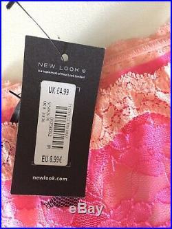 Wholesale Joblot Women New Look Pink Lace Brazilian Underwear Briefs 100pcs