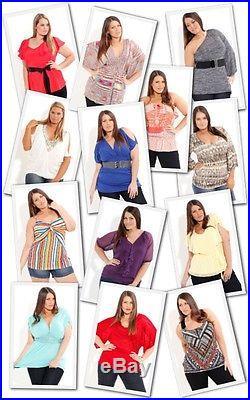 Wholesale LOT 200 Women clothing Tops Blouses Dresses Bikinis Apparel XL 2XL 3XL