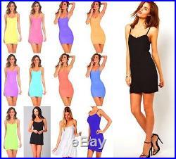 Wholesale Lot 30 Women Stretch Camisole Strap Long Tank Top Mini Dress OS S M L