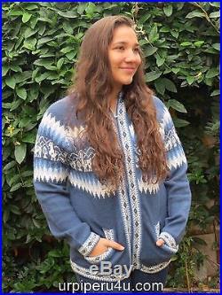 Wholesale Lot Of 10 Alpaca Wool Hooded Hood Llamas Sweater Fine Sz M Soft M5