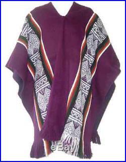 Wholesale Lot Of 10 Beautiful & Warm Alpaca Wool Poncho Otavalo