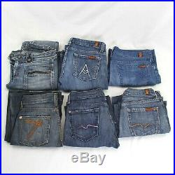 Wholesale Lot of Womens Jeans 33 Pairs True Religion 7 For All Mankind Guess