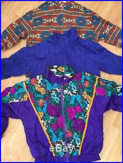 Wholesale Vintage Clothing Crazy Abstract Print Shell Patterned Jackets X 50