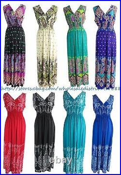 Wholesale lot of 20 sexy summer bohemian maxi long dresses for women