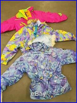 Wholesale vintage 90s women's bright ski jackets x 25