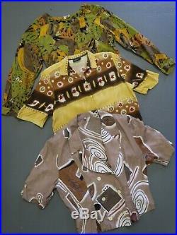 Wholesale vintage women's pattern 80s 90s blouse mix x 100