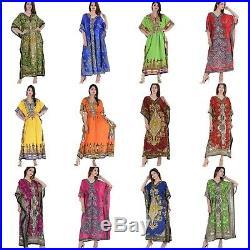 Women Dress Beach Wear 50 Wholesale lot Plus Size Casual Long-Assorted-Kaftan
