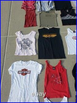 Women's Harley Davidson T Shirt Tank Top Lot Of 52 Sizes S-XL Wholesale Reseller